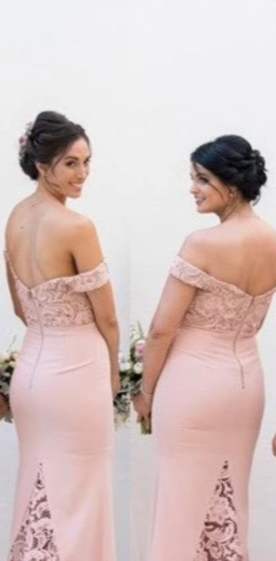 Mermaid Pearl Pink Bridesmaid Dress - daisystyledress