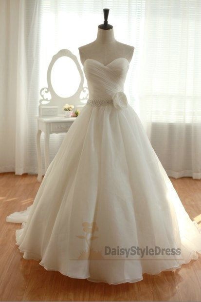 Simple Ball Gown Wedding Dress - daisystyledress