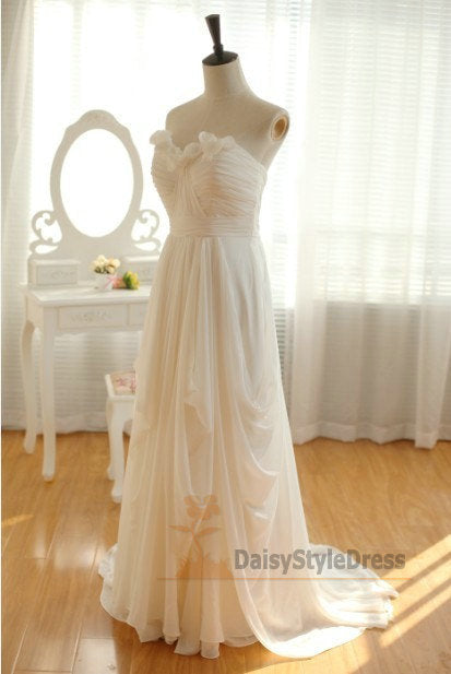 Sweertheart Chiffon Beach Wedding Dress - daisystyledress