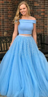 Ball Gown Tulle Two Piece Prom Dress - daisystyledress