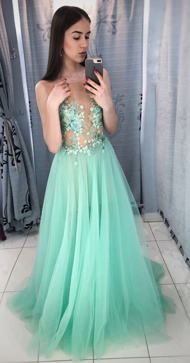 Sexy Illusion Green Prom Dress - daisystyledress