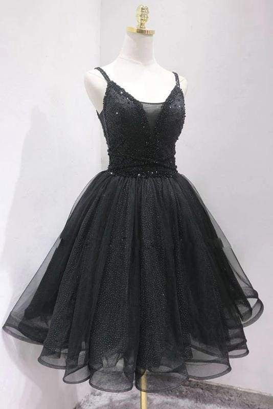 black sparkle homecoming dress