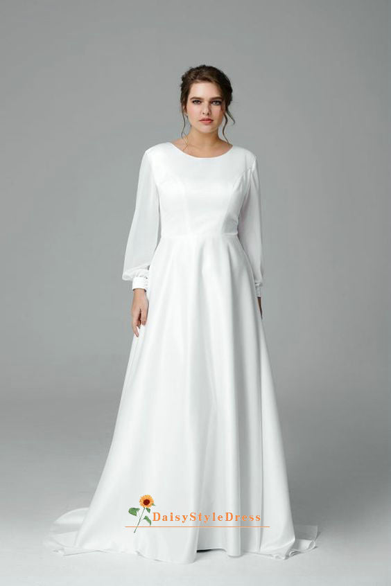 long sleeve plus size wedding dress
