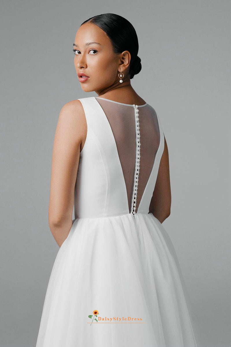 v-back wedding dress