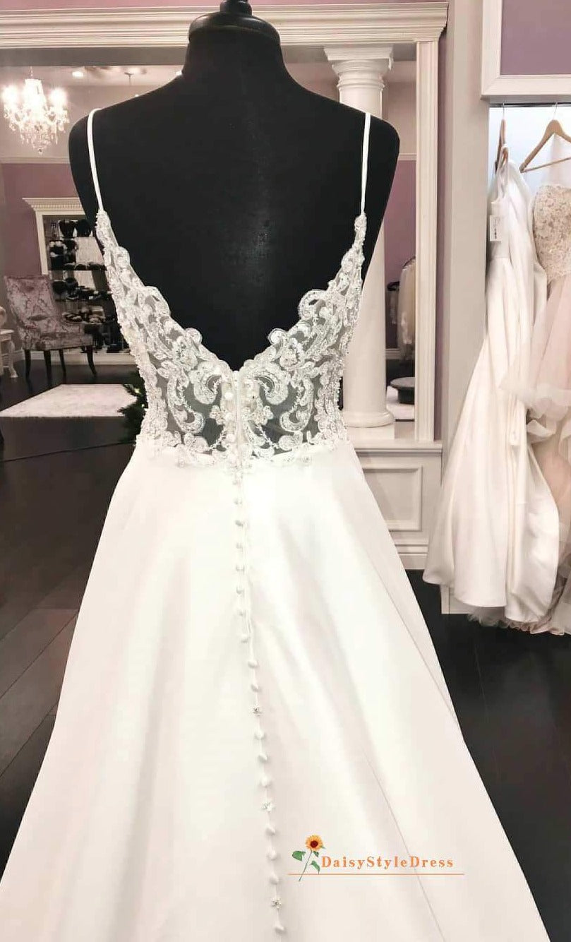 sexy back wedding dress