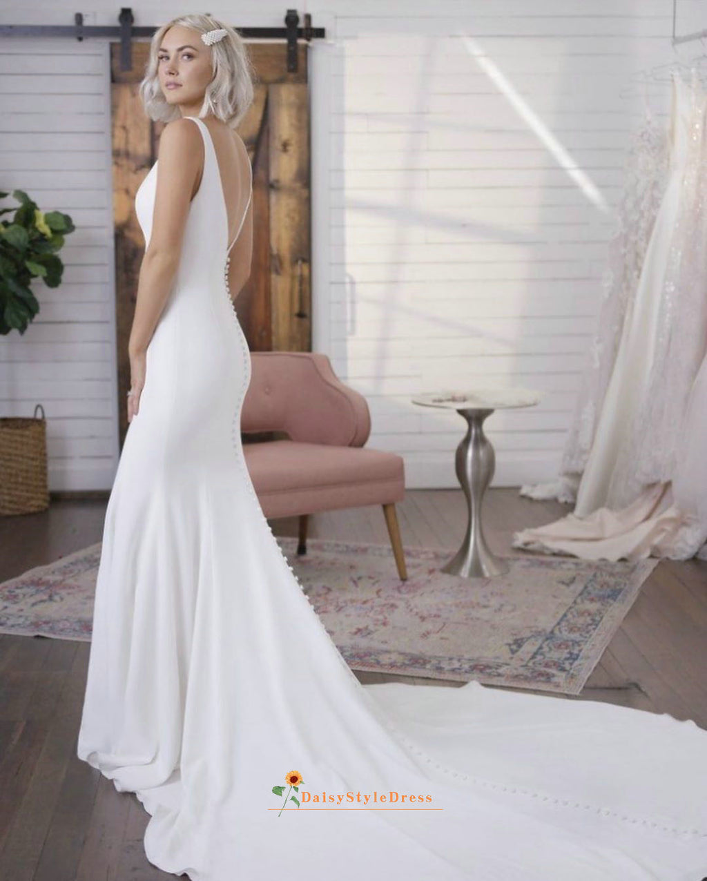 flare wedding dress