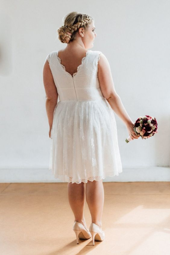 Short engagement dress