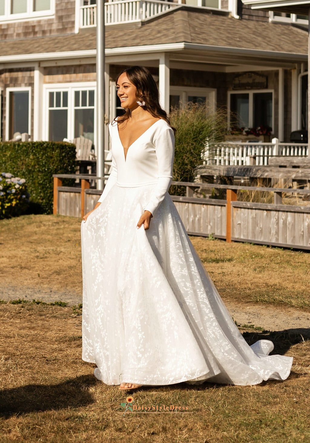 long sleeve wedding dress