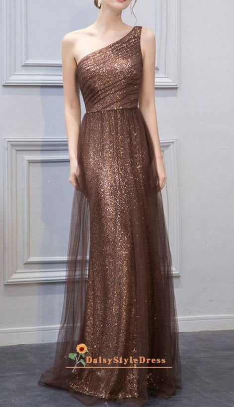 coffee evening dress