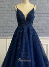 navy blue pageant dress