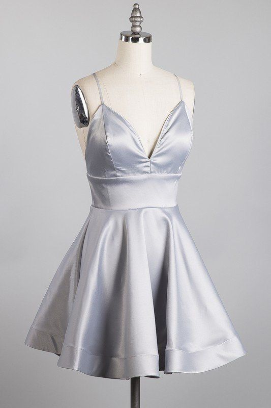 silver dinner party dress