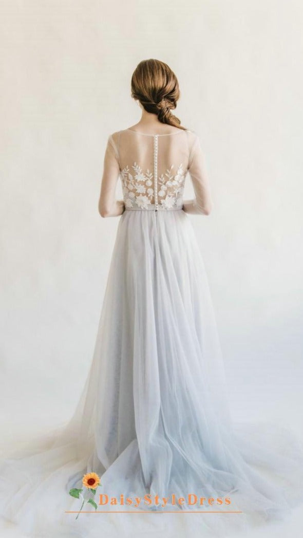 sexy boho wedding dress