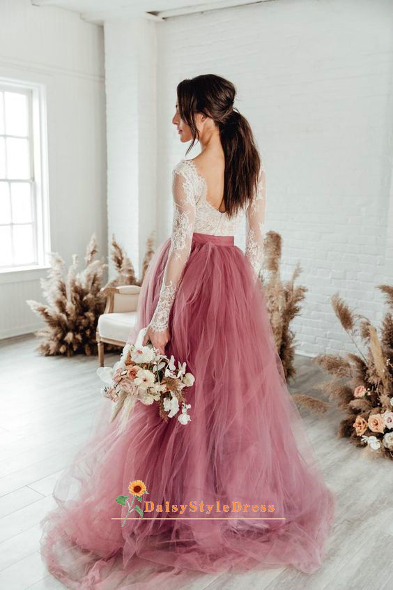 dusty blush wedding dress