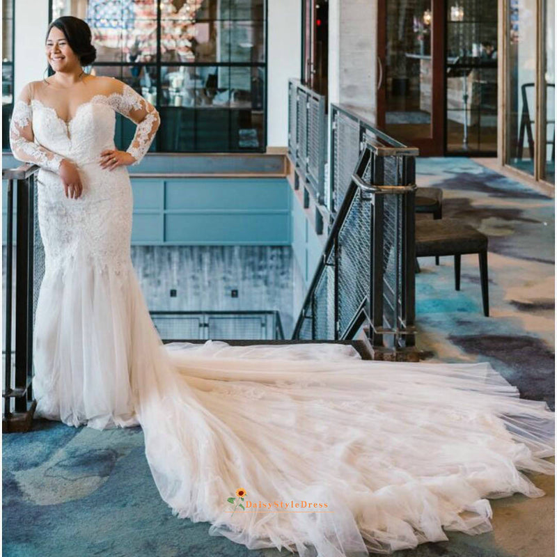 fit plus size wedding dress