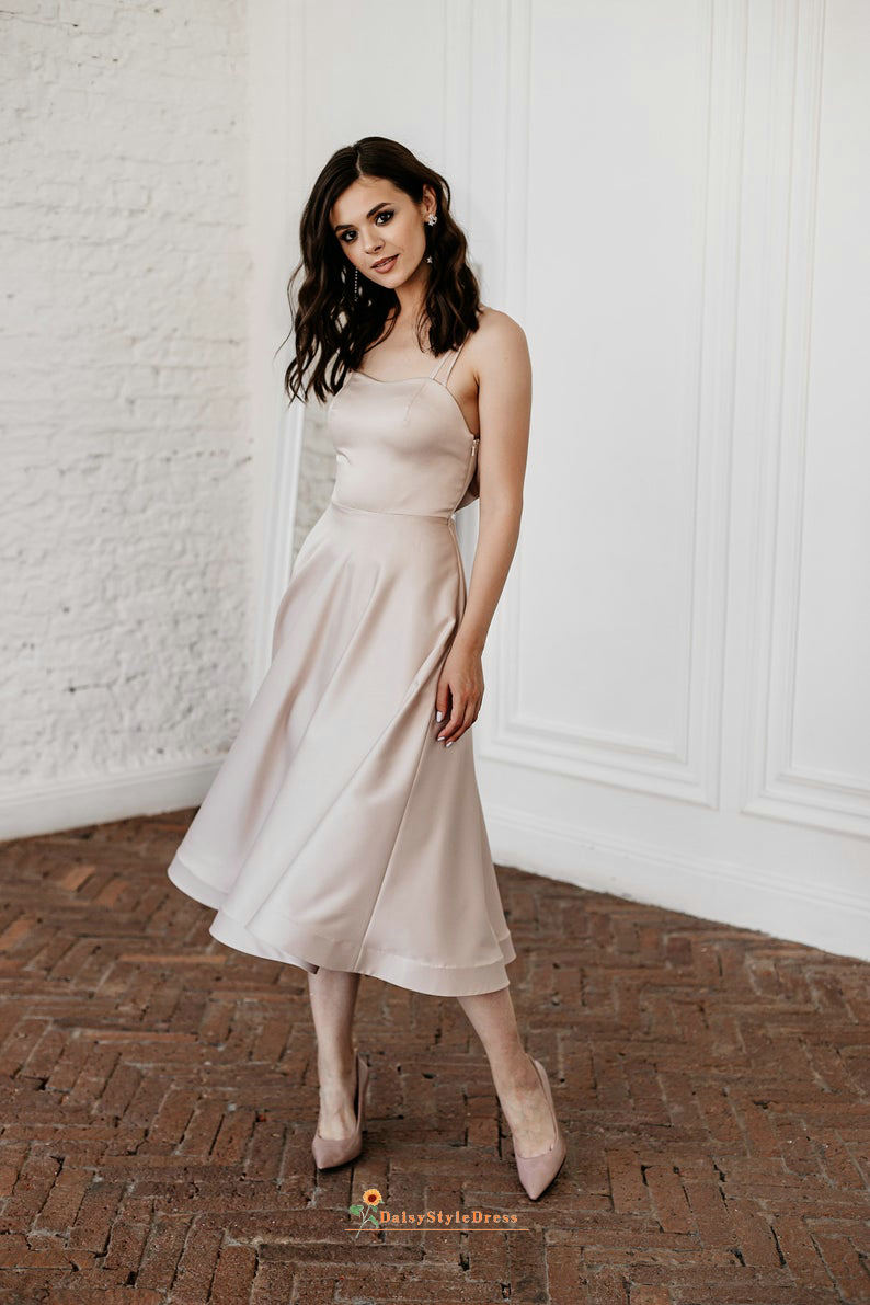 blush wedding guest dress