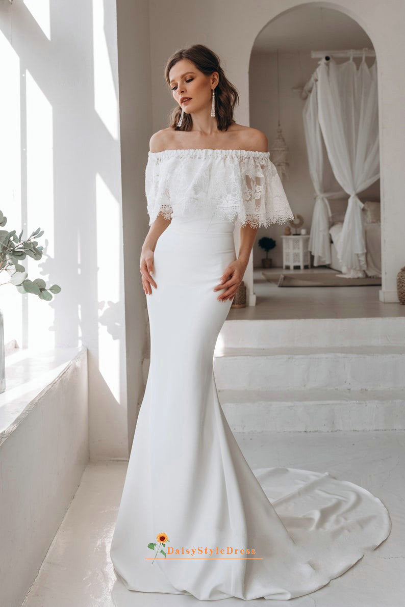fitted boho wedding dress