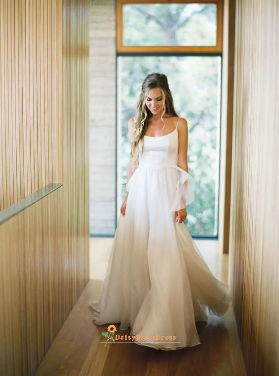 square neckline wedding dress