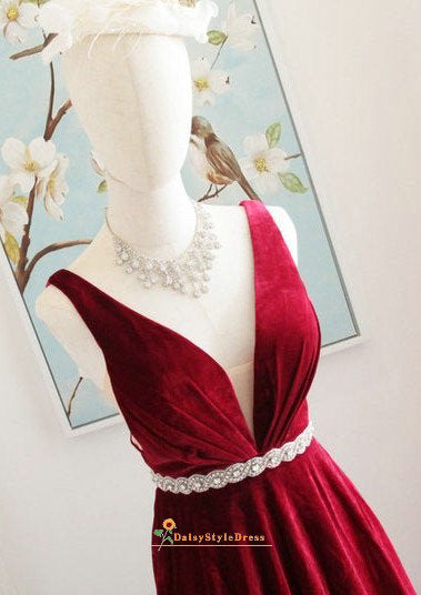 v-neck formal dress