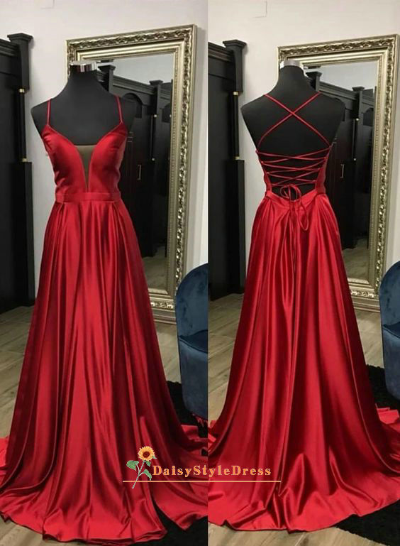 criss cross long prom dress