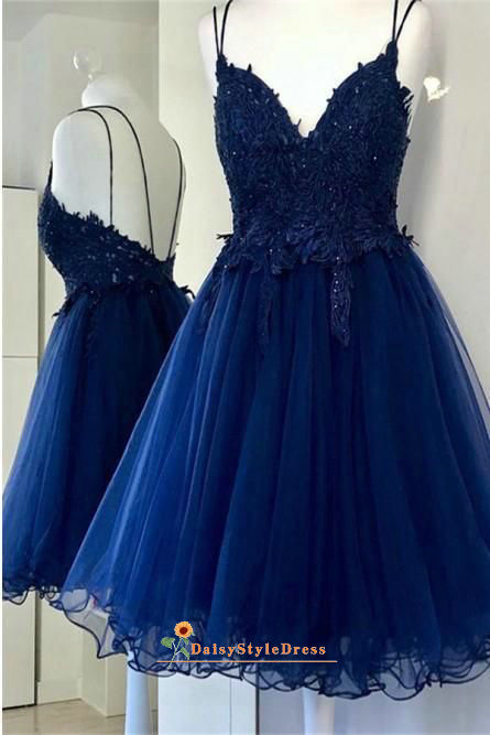 short royal blue homecoming dress