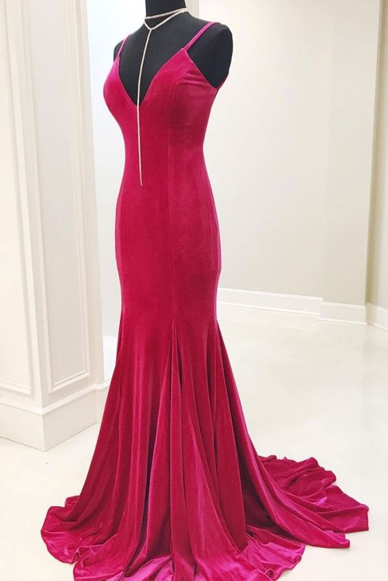 Sheath Spaghetti Straps Light Plum Evening Dress - daisystyledress