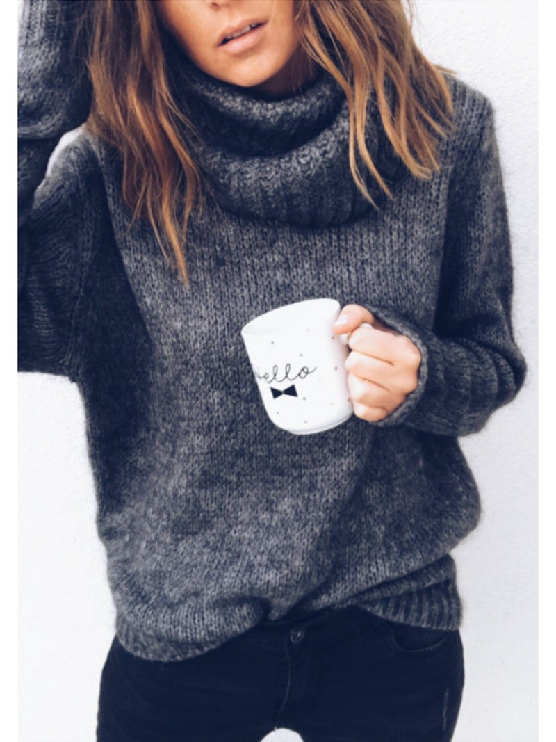 Casual  Pullover Long Sleeve Sweater