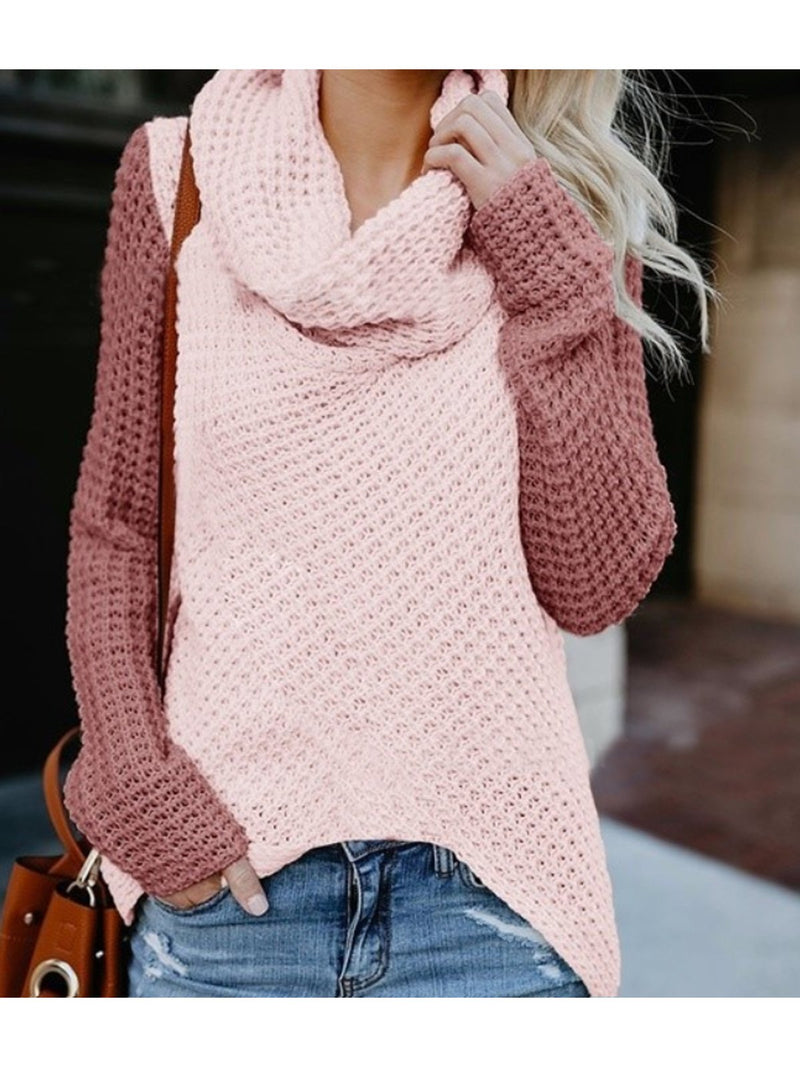 Autumn And Winter High Collar Coloured Long-Sleeve Sweater