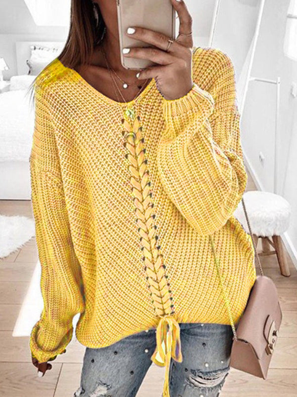 2019 Fall Knitted Women Pullover Sweaters