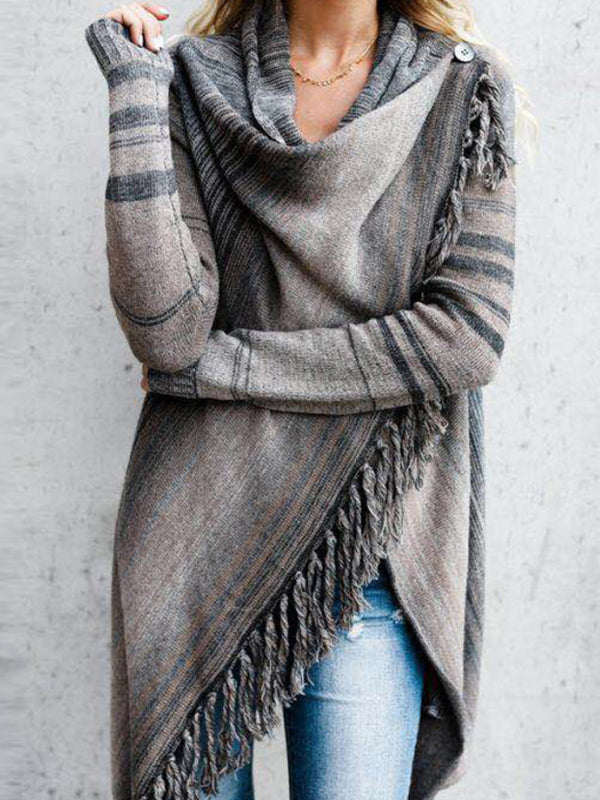 Autumn Tassel Turtleneck Sweater Women's