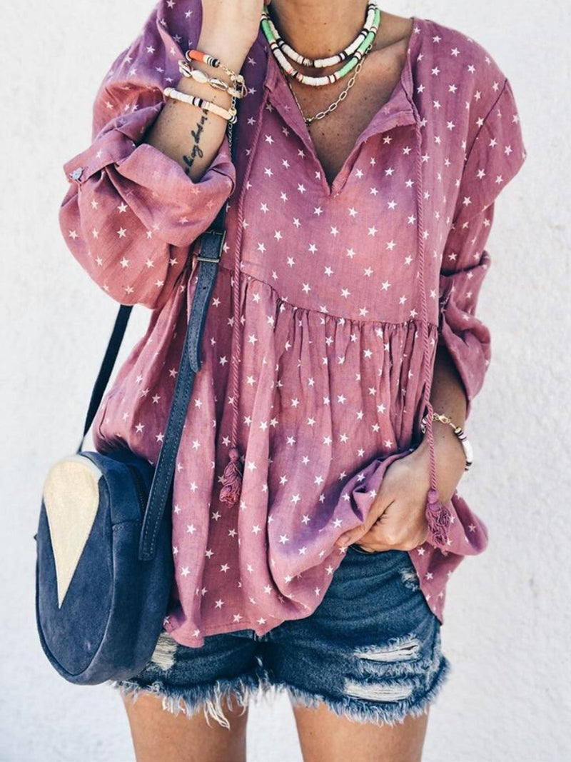 Women Daily Polka Dot Blouse