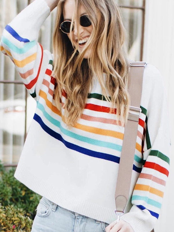 Long Sleeved Striped Striped Sweater