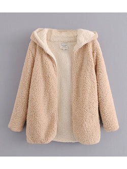 Autumn & Winter New Plush Velvet Double-Sided Lazy Coat Women