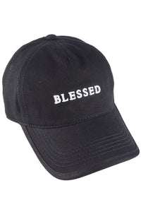 Blessed  Embroidered  Ponytail  Hat