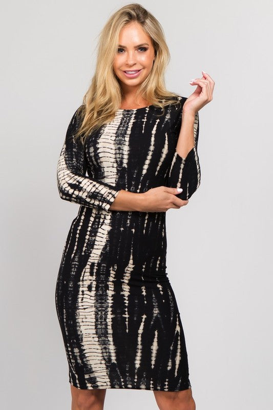 Anna Snake Print Bodycon Midi Dress