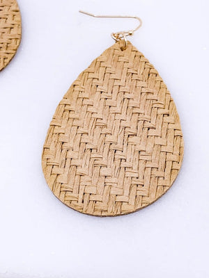 Rattan Drop Earrings
