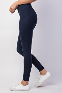 Buttery Soft Legging With Side Pockets-Navy