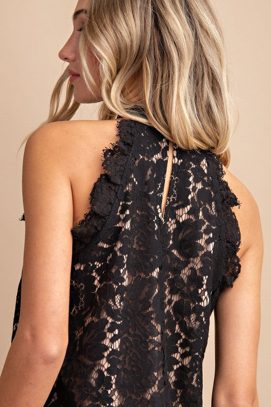 Lace and Grace Halter Top
