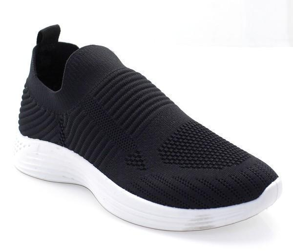 Stretch Knit Beverly Sneakers in Black
