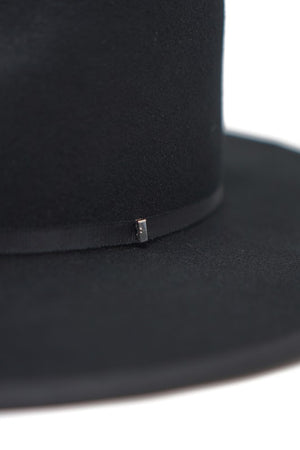 Claudia Rancher Ultra Structured Hat-Black