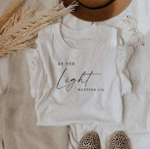 Be The Light Tee-White S-XL