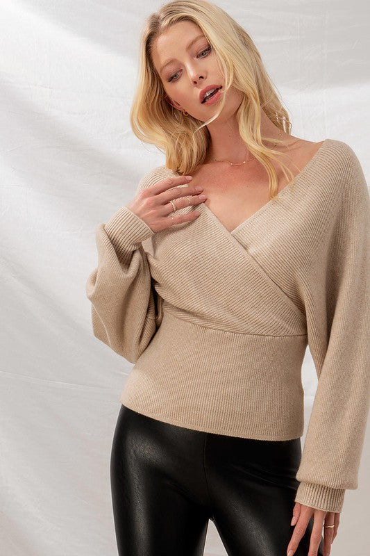 Live Free Wrap Sweater S-XL
