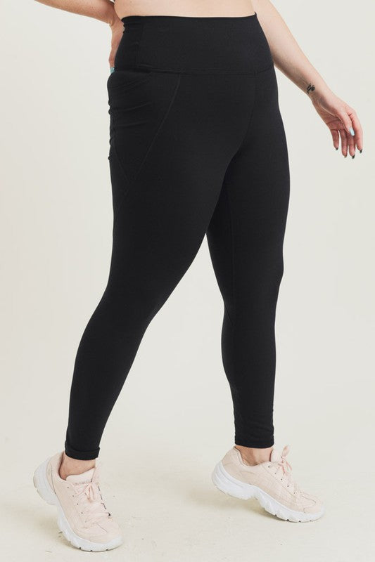Curvy Tummy Control Side Pocket Leggings