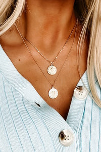 Two Layer Gold Coin Necklace