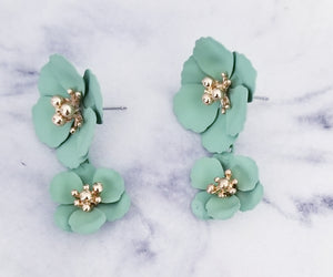 You Are Mint To Be Flower Drop Earrings