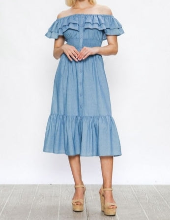 Havana  Nights Chambray  Dress