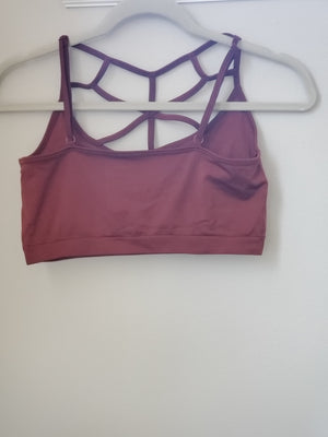 Web Detail Bralette in Rust