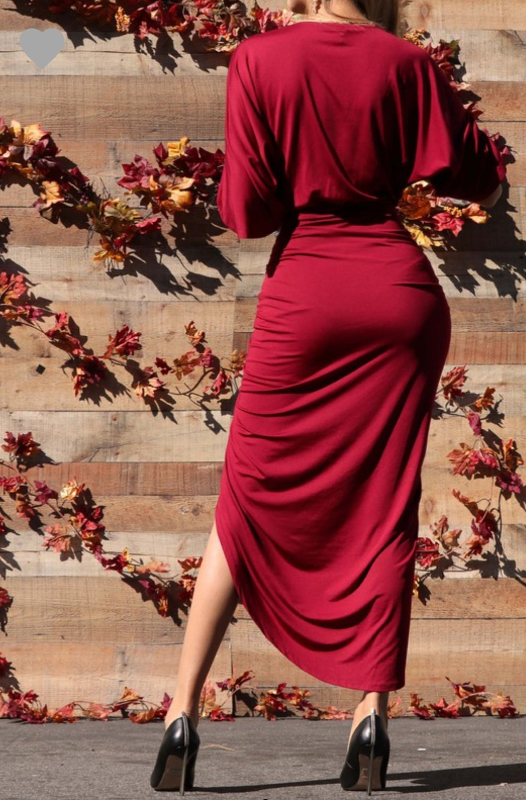 Venetian Ruched Bodycon Dress