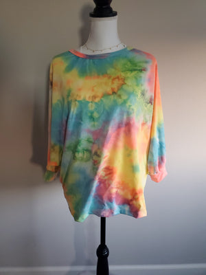 Open Back Tie Dye Sweatshirt Shirt