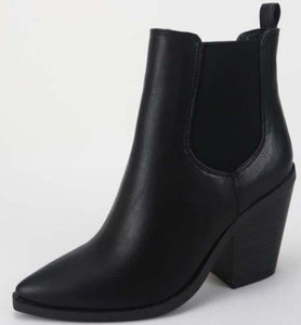 Adriana Slip On Pointed Toes Booties