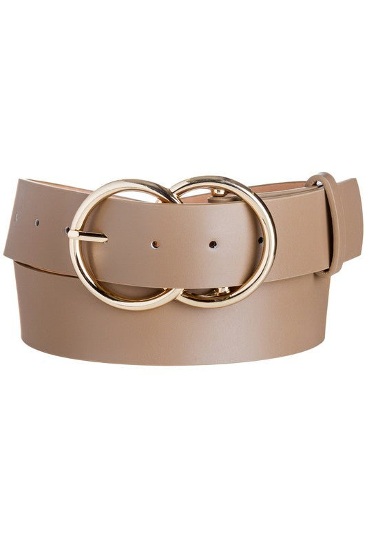 Double O Ring Thick Belt-3 colors